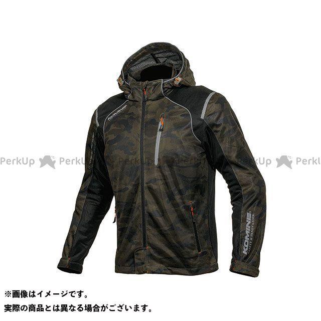 KOMINE カジュアルウェア JK-135 プロテクトフルメッシュパーカ(カモ/ブラック) サイズ:WM コミネ