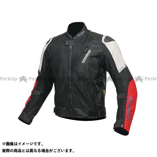 KOMINE ジャケット 2019年春夏モデル JK-137 カーボンプロテクトメッシュジャケット(ライトグレー/レッド) サイズ:L コミネ