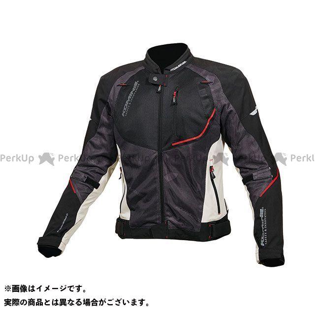 KOMINE ジャケット 2019年春夏モデル JK-139 ウォータープルーフハーフメッシュジャケット(ライトグレー/ブラック) サイズ:XL コミネ