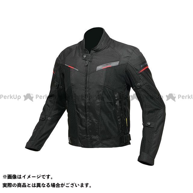 KOMINE ジャケット JK-141 プロテクトハーフメッシュジャケット(ブラック/レッド) サイズ:M コミネ
