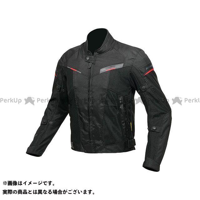 KOMINE ジャケット JK-141 プロテクトハーフメッシュジャケット(ブラック/レッド) サイズ:L コミネ