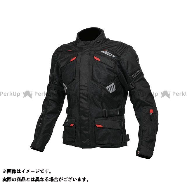 KOMINE ジャケット JK-142 プロテクトアドベンチャーメッシュジャケット(ブラック) サイズ:4XL コミネ