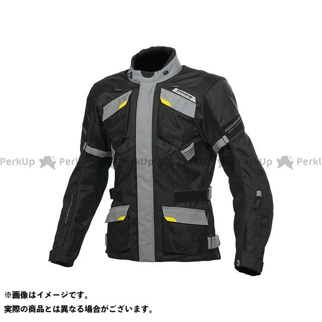 KOMINE ジャケット JK-142 プロテクトアドベンチャーメッシュジャケット(ブラック/グレー) サイズ:2XL コミネ