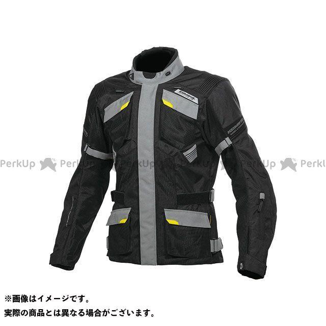 KOMINE ジャケット JK-142 プロテクトアドベンチャーメッシュジャケット(ブラック/グレー) サイズ:3XL コミネ