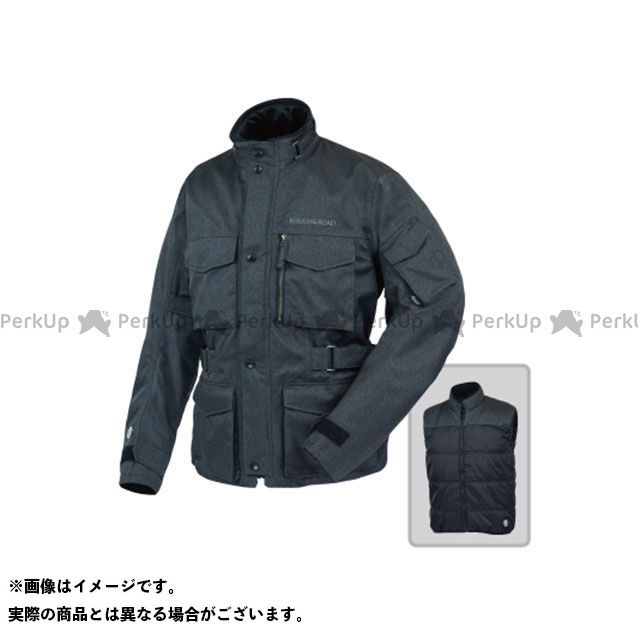 ラフアンドロード ジャケット RR4012 SSFトレイルツーリングジャケットEX HB(ヘリンボーンチャコール) サイズ:BLL ラフ&ロード