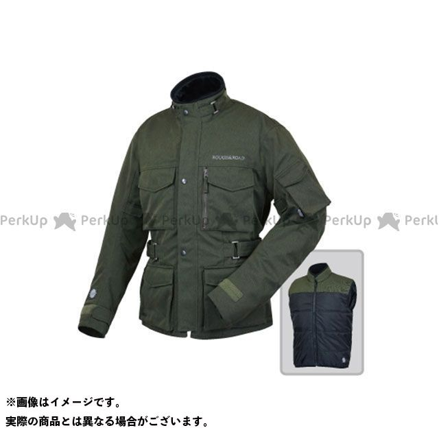 ラフアンドロード ジャケット RR4012 SSFトレイルツーリングジャケットEX HB(ヘリンボーンオリーブ) サイズ:M ラフ&ロード