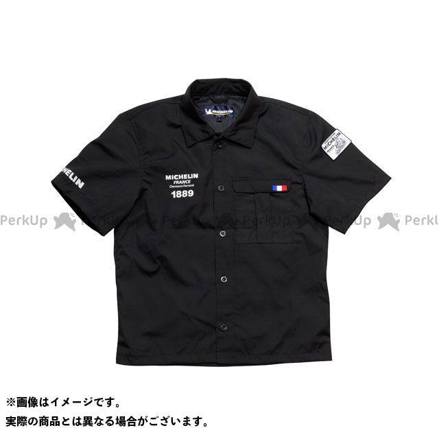 【エントリーで最大P21倍】Michelin その他アパレル 2019春夏モデル ML19108S ワークシャツ(ブラック) サイズ:2XL ミシュラン