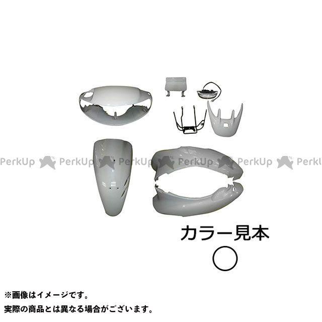 supervalue ライブディオ 外装セット 外装6点セット ライブディオ(AF35) I型 パールシーシェルホワイト(NH-198P) リヤスポイラーアッセンブリ付