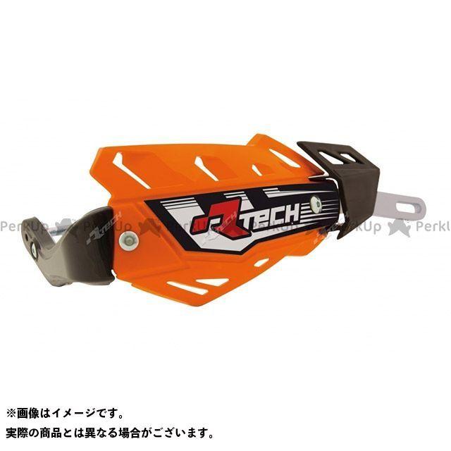 RACETECH 汎用 ハンドル周辺パーツ FLXアルミハンドガード(オレンジ) 仕様:ファットバー用 レーステック