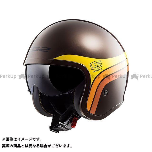 LS2 HELMETS エルエスツー ジェットヘルメット アウトレット品 SPITFIRE(ブラウンオレンジイエロー) XL