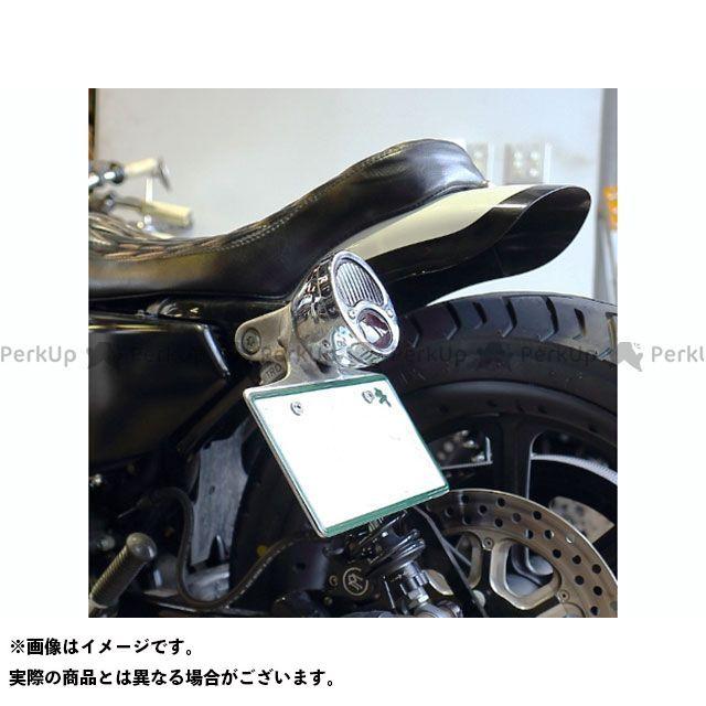 HIDE motorcycle スポーツスターファミリー汎用 旧車 ショベルFL系 旧車 ショベルFX系 その他外装関連パーツ HDMサイドナンバーブラケットキット(ヨコ型) リアランプ:BLACK ヒデモ
