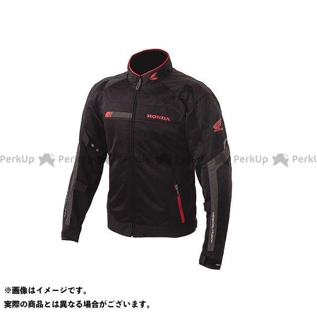 ホンダ ジャケット Honda×RSタイチ 2019春夏モデル クロスオーバーメッシュジャケット(ブラック/レッド) サイズ:LL Honda