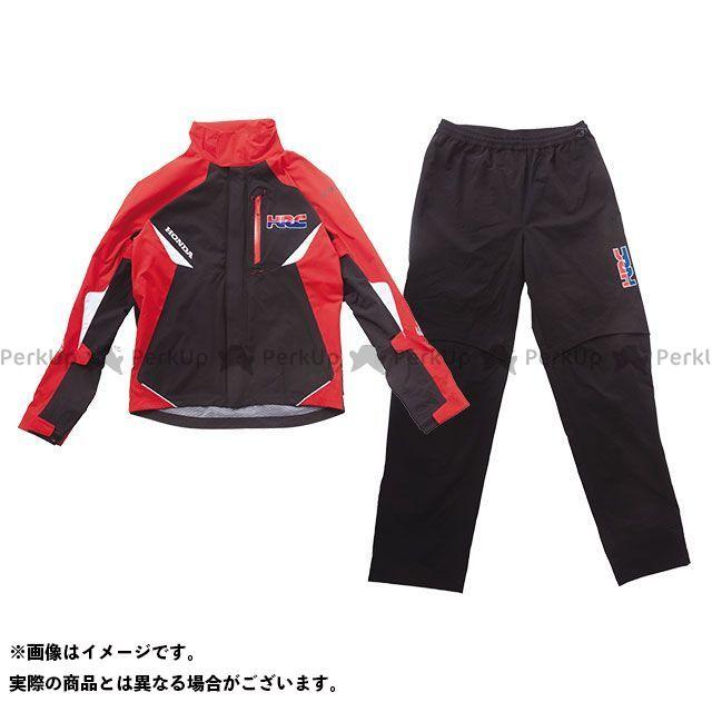 【無料雑誌付き】ホンダ レインウェア HRC 2019春夏モデル プロンプトレインスーツ(ブラック) サイズ:L Honda