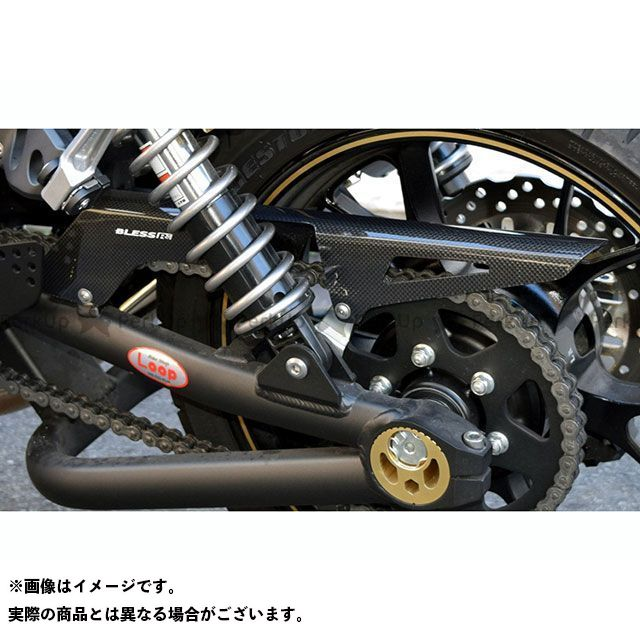 BLESS R'S ZRX1200ダエグ チェーン関連パーツ カーボン チェーンガード カラー:クリア塗装品 ブレスアールズ