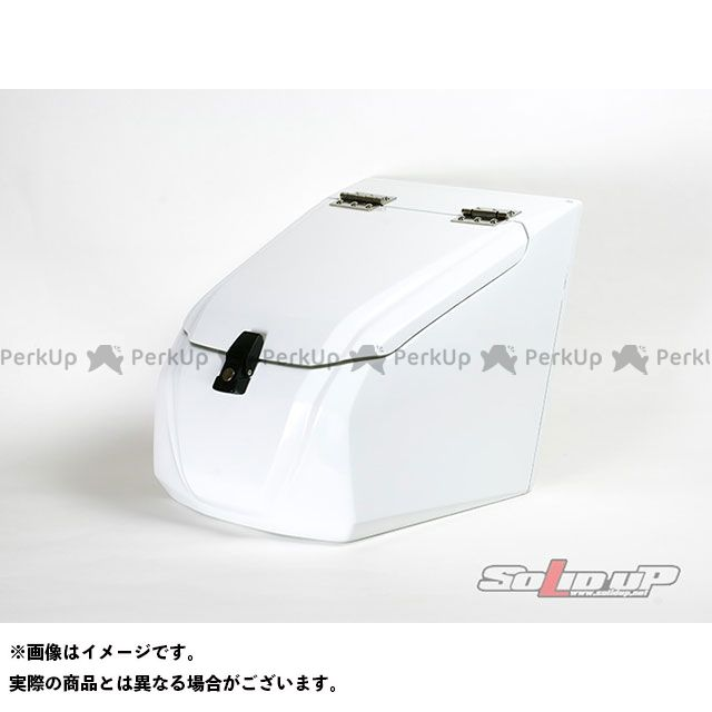 SOLID UP ジャイロX ツーリング用ボックス ジャイロX用 フロントボックス(白ゲル) ソリッドアップ