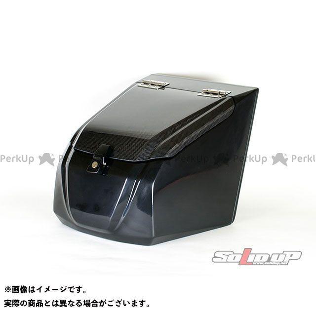 【エントリーで更にP5倍】SOLID UP ジャイロX ツーリング用ボックス ジャイロX用 フロントボックス(黒ゲル/カーボン平織り) ソリッドアップ