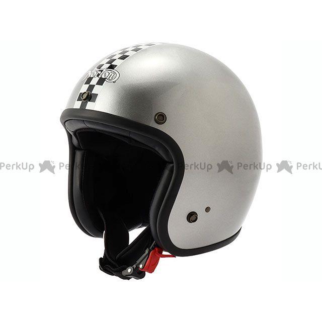 送料無料 Norton ノートン ジェットヘルメット NRH05 ヘルメット チェッカー(シルバー)