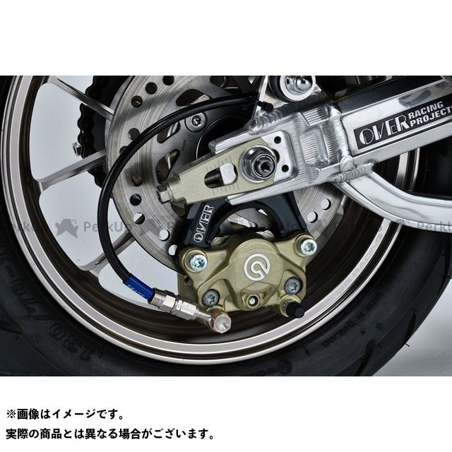 OVER RACING モンキー125 キャリパー Rキャリパーサポート ブレンボ2P(カニ) ロワーマウント(下側) ブラック オーバーレーシング