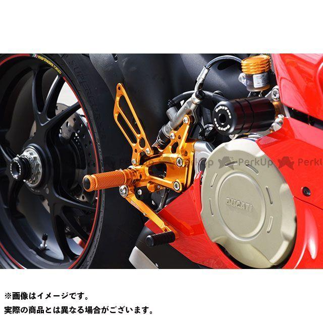 【無料雑誌付き】BABYFACE パニガーレV4 バックステップ関連パーツ バックステップキット カラー:ゴールド ベビーフェイス