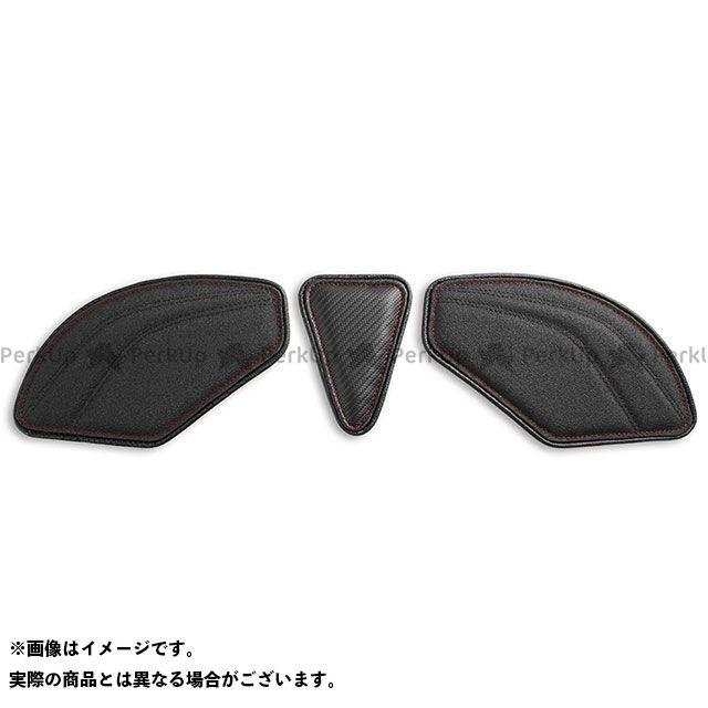 RSV4 R トゥオーノ1000 タンク関連パーツ タンクリーフ/Sport フルキット カラー:TEC-GRIP/CFブラック/レッドステッチ LUI MOTO