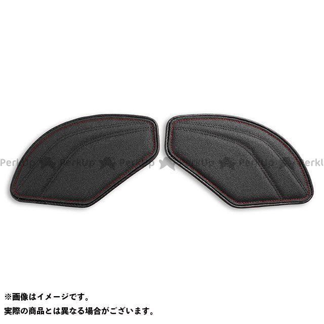 RSV4 R トゥオーノ1000 タンク関連パーツ タンクリーフ/Sport ニーグリップパッド カラー:TEC-GRIP/CFブラック/レッドステッチ LUI MOTO