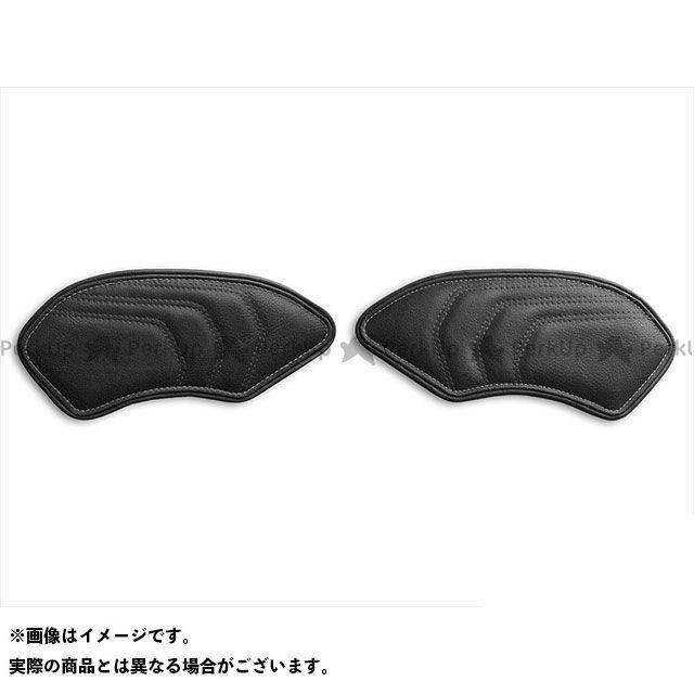 タンク関連パーツ タンクリーフ/Cafe ニーグリップパッド カラー:TEC-GRIP/ビンテージブラック/シルバーステッチ LUI MOTO