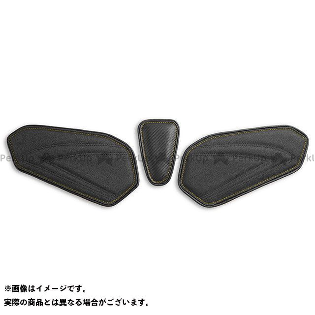 GSX-R600 GSX-R750 タンク関連パーツ タンクリーフ/Sport フルキット カラー:TEC-GRIP/CFブラック/イエローステッチ LUI MOTO