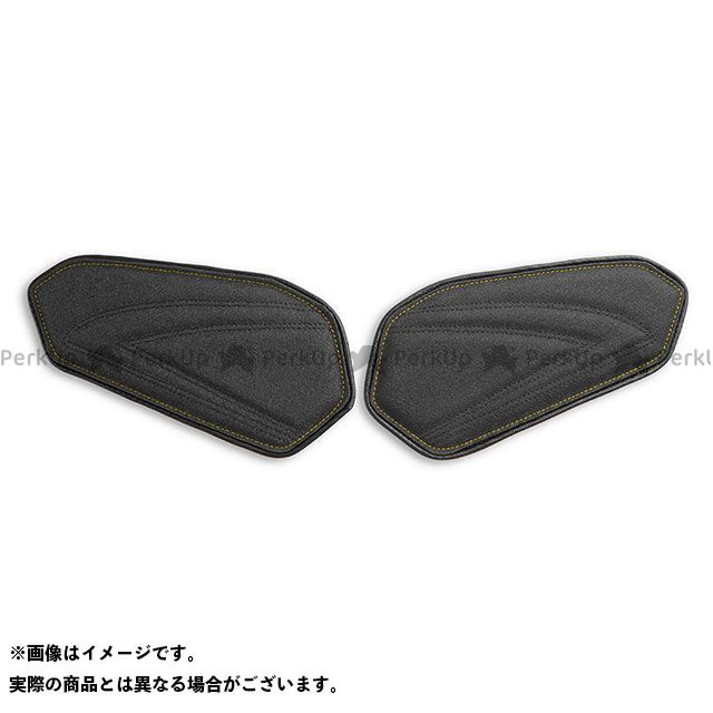 GSX-R600 GSX-R750 タンク関連パーツ タンクリーフ/Sport ニーグリップパッド カラー:TEC-GRIP/CFブラック/イエローステッチ LUI MOTO