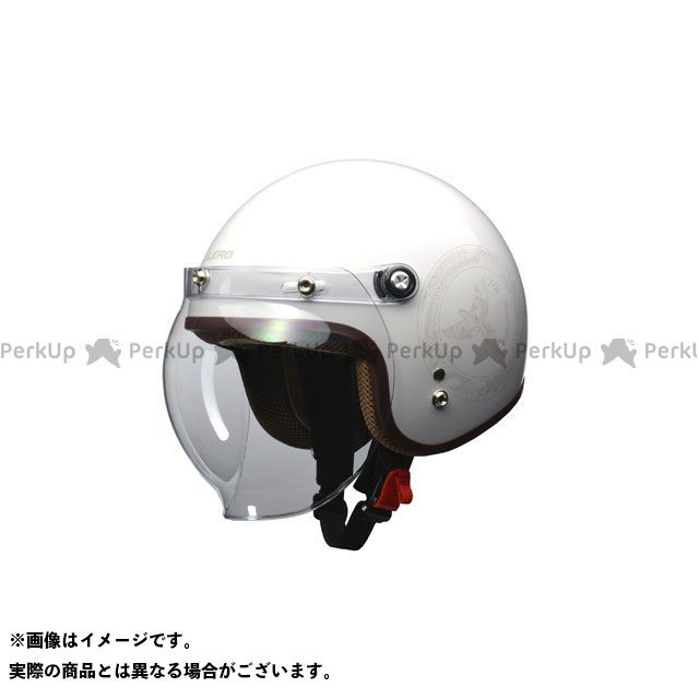 LEAD工業 レディース・キッズヘルメット NOVIA バブルシールド付 スモールロージェットヘルメット(ホワイト) リード工業