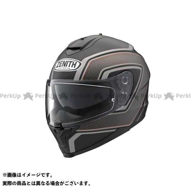 送料無料 ワイズギア Y'S GEAR フルフェイスヘルメット YF-9 ZENITH スポーツストライプ グレー(つやけし) S