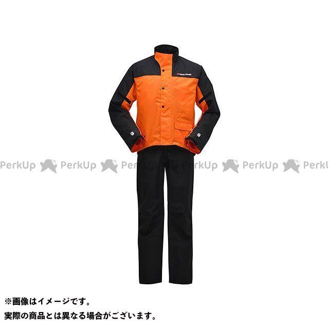 【無料雑誌付き】Y'S GEAR レインウェア YAR19 サイバーテックスII ダブルガードレインスーツ カラー:オレンジ サイズ:4L ワイズギア