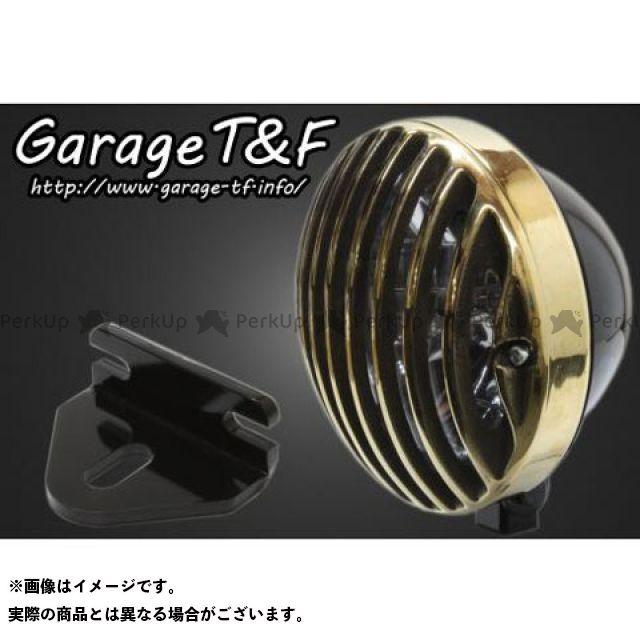 ガレージティーアンドエフ 250TR ヘッドライト・バルブ 5.75インチバードゲージヘッドライト&ライトステー(タイプE)キット ブラック 真鍮