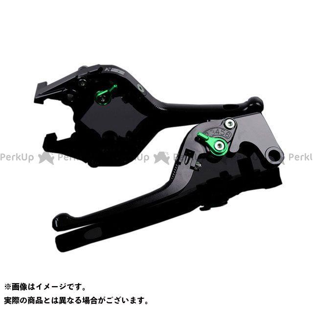 エスエスケー SSK レバー ハンドル 無料雑誌付き FZ1フェザー FZ-1S 3D可倒式 レバー本体:ブラック YZF-R6 アルミビレットアジャストレバーセット 舗 アジャスター:グリーン YZF-R1 国内送料無料