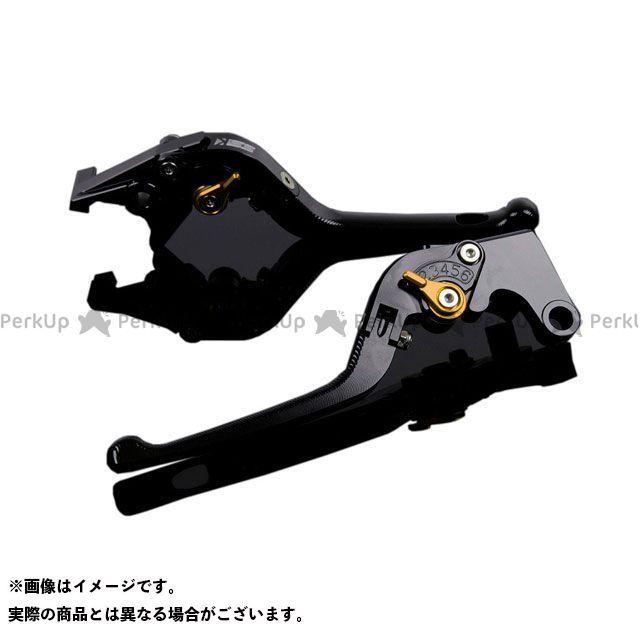 エスエスケー SSK レバー ハンドル 安い 日本産 無料雑誌付き 3D可倒式 YZF-R1 アジャスター:ゴールド アルミビレットアジャストレバーセット レバー本体:ブラック