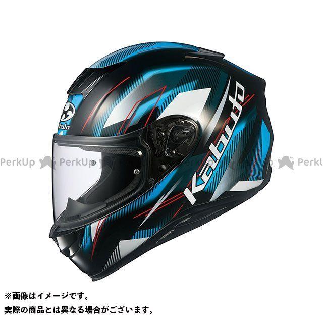 送料無料 OGK KABUTO オージーケーカブト フルフェイスヘルメット AEROBLADE-5 GO(エアロブレード・5 ゴー) ブラック/ライトブルー XL/61-62cm未満