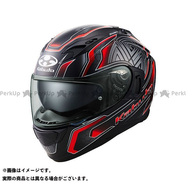 送料無料 OGK KABUTO オージーケーカブト フルフェイスヘルメット KAMUI-III CIRCLE(カムイ・3 サークル) フラットブラック/レッド XL