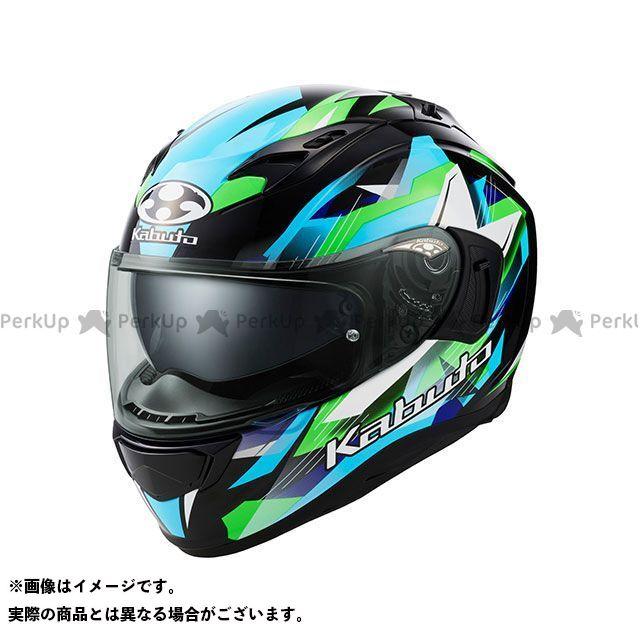 送料無料 OGK KABUTO オージーケーカブト フルフェイスヘルメット KAMUI-III STARS(カムイ・3 スターズ) ブラック/グリーン M