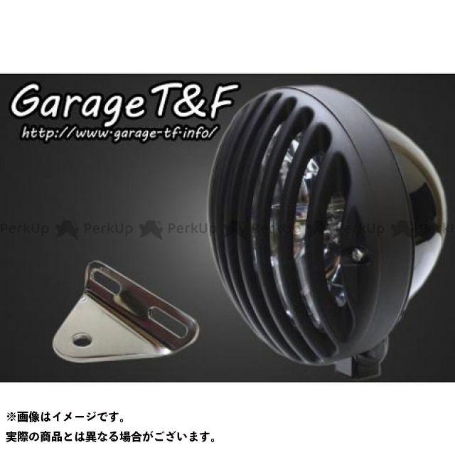 ガレージティーアンドエフ ドラッグスター1100(DS11) ヘッドライト・バルブ 5.75インチバードゲージヘッドライト&ライトステー(タイプA)キット ブラック ブラック