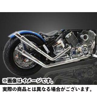 ガレージティーアンドエフ ドラッグスター1100(DS11) マフラー本体 アップトランペットマフラー ガレージT&F