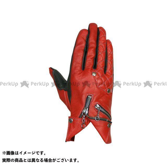フリーフリー レザーグローブ F2G-1507 オイルドレザーグローブ レッド レディースL FREE FREE