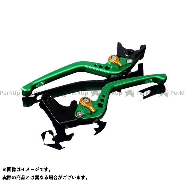 エスエスケー SSK レバー ハンドル 無料雑誌付き 日本最大級の品揃え アジャスター:マットゴールド 流行 アルミビレットアジャストレバーセット レバー本体:マットグリーン ビーキング 3Dロング