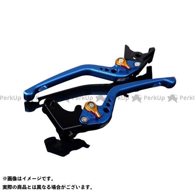 エスエスケー SSK レバー ハンドル 無料雑誌付き メーカー再生品 GSX-R1000 3Dロング レバー本体:マットブルー GSX-R750 高品質 GSX-R600 アジャスター:マットゴールド アルミビレットアジャストレバーセット