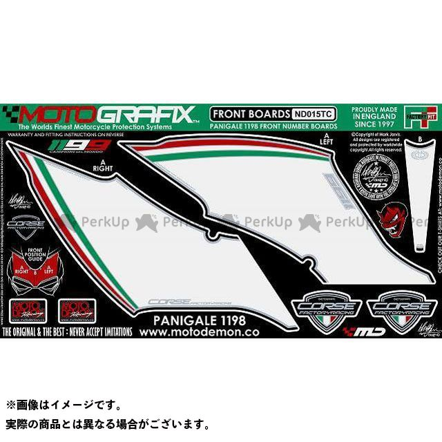 【エントリーで最大P21倍】MOTOGRAFIX 1199パニガーレ ドレスアップ・カバー ボディパッド Front ドゥカティ タイプ:ND015TC モトグラフィックス