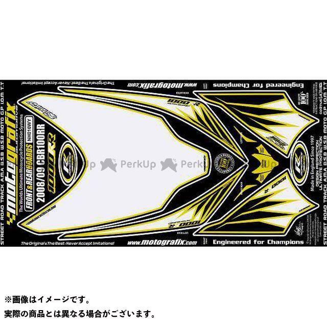 【エントリーで最大P21倍】MOTOGRAFIX CBR1000RRファイヤーブレード ドレスアップ・カバー ボディパッド Front&Rear ホンダ タイプ:NH010WY モトグラフィックス