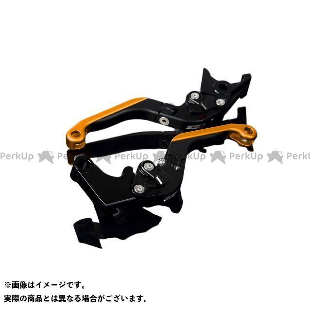 送料無料 エスエスケー YZF-R1 レバー アルミビレットアジャストレバーセット 可倒延長式(レバー本体:マットブラック) マットブラック マットゴールド