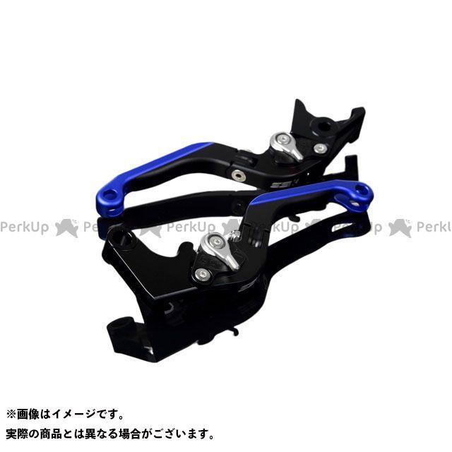 送料無料 エスエスケー YZF-R1 レバー アルミビレットアジャストレバーセット 可倒延長式(レバー本体:マットブラック) マットシルバー マットブルー