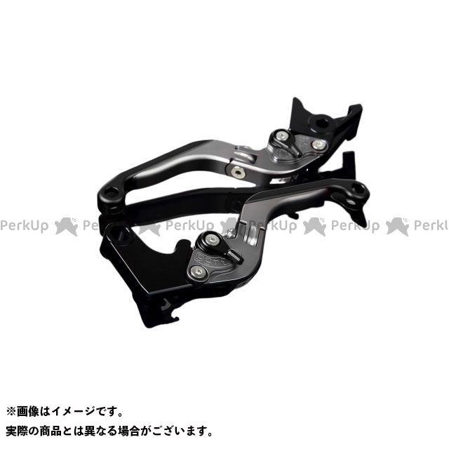 送料無料 エスエスケー YZF-R6 レバー アルミビレットアジャストレバーセット 可倒延長式(レバー本体:マットチタン) マットブラック マットブラック