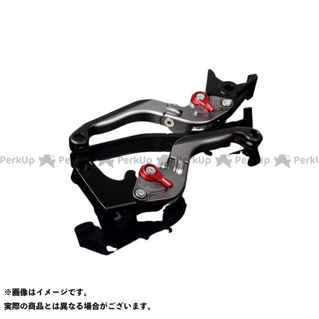 送料無料 エスエスケー YZF-R6 レバー アルミビレットアジャストレバーセット 可倒延長式(レバー本体:マットチタン) マットレッド マットブラック