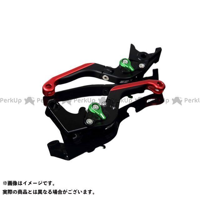 送料無料 エスエスケー GSX-R1000 レバー アルミビレットアジャストレバーセット 可倒延長式(レバー本体:マットブラック) マットグリーン マットレッド