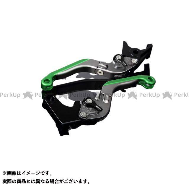 送料無料 エスエスケー GSX-R1000 レバー アルミビレットアジャストレバーセット 可倒延長式(レバー本体:マットチタン) マットブラック マットグリーン